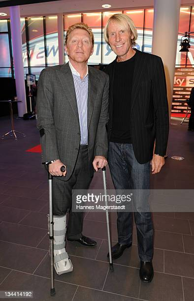 Boris Becker and Carlo Thraenhardt attend the Sky Sports News HD Stations Start at the SKY head office on December 01 2011 in Munich Germany