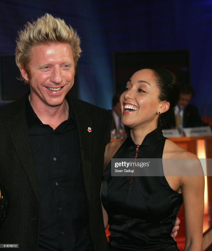 Boris Becker and his girlfriend Caroline Rocher attend the 'Ein Herz Fuer Kinder' Gala at The Axel Springer building on December 18, 2004 in Berlin, Germany.