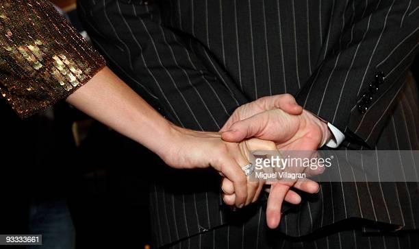 Boris Becker and his pregnant wife Lilly Kerssenberg hold hands during the Laureus Media Award ceremony on November 23, 2009 in Kitzbuhel, Austria.