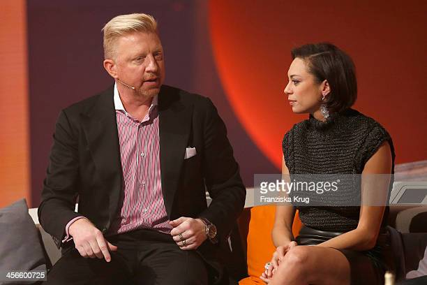 Boris Becker and his wife Lilly Becker attend Wetten dass from Augsburg on December 14 2013 in Augsburg Germany