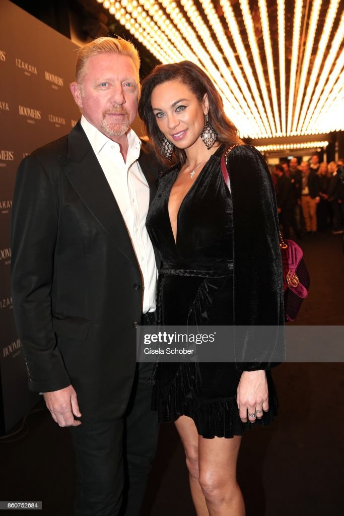 Boris Becker and his wife Lilly Becker during the grand opening of Roomers & IZAKAYA on October 12, 2017 in Munich, Germany.