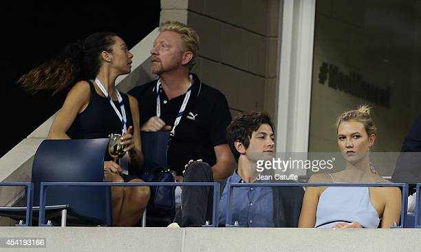 Boris Becker and his wife Sharlely 'Lilly' Becker Karlie Kloss and her boyfriend Joshua Kushner attend the 2014 US Open at USTA Billie Jean King...