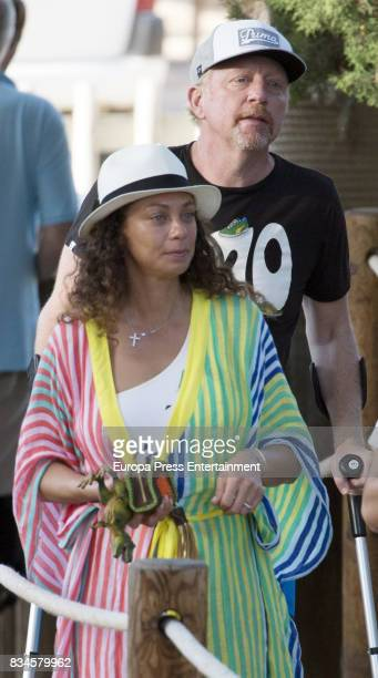 Boris Becker and Lilly Becker are seen on August 17 2017 in Ibiza Spain