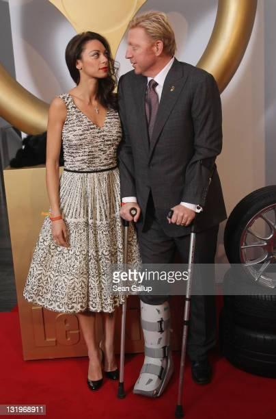 "Boris Becker and Lilly Becker attend ""Das Goldene Lenkrad 2011"" Awards at Axel-Springer Haus on November 9, 2011 in Berlin, Germany."