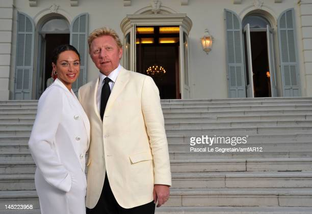 Boris Becker and Lilly Becker attend the 2012 amfAR's Cinema Against AIDS during the 65th Annual Cannes Film Festival at Hotel Du Cap on May 24, 2012...