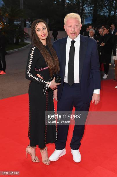 Boris Becker and Lilly Becker attend the 2018 Laureus World Sports Awards at Salle des Etoiles Sporting MonteCarlo on February 27 2018 in Monaco...