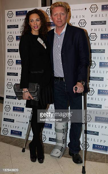 Boris Becker and Lilly Becker attend the Grand Store Opening of 'Philipp Plein' on November 15 2011 in Duesseldorf Germany