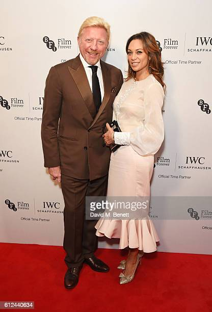 Boris Becker and Lilly Becker attend the IWC Schaffhausen Dinner in Honour of the BFI at Rosewood London on October 4, 2016 in London, England.