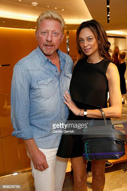 Boris Becker and Lilly Becker attend the reopening of TOD's Flaship Boutique at Old Bond Street on September 15 2016 in London England