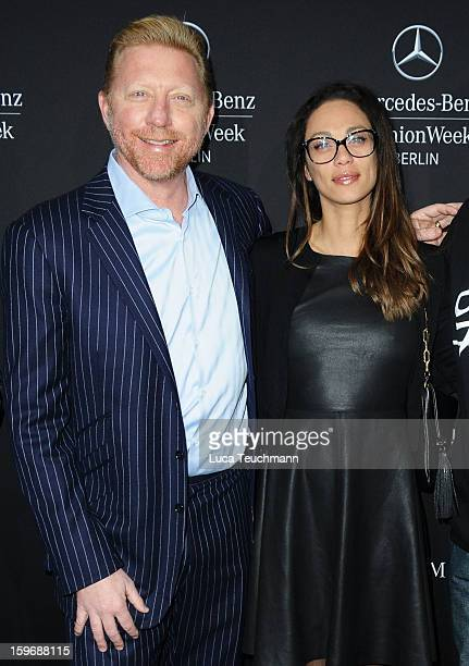 Boris Becker and Lilly Becker attend Zoe Ona Autumn/Winter 2013/14 fashion show during Mercedes-Benz Fashion Week Berlin at Brandenburg Gate on...