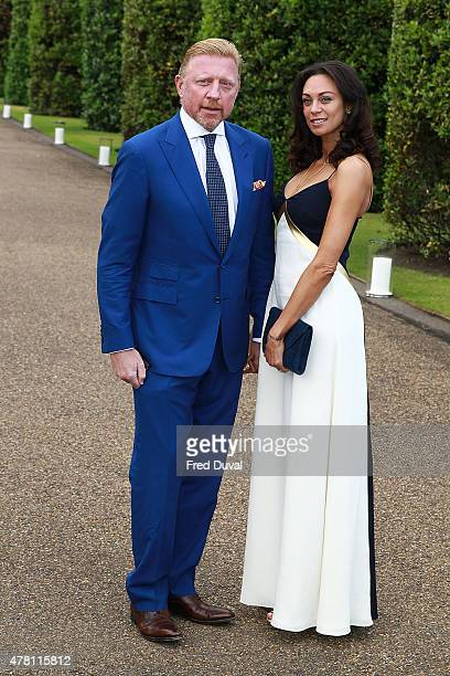 Boris Becker and Lily Becker attend the Vogue and Ralph Lauren Wimbledon party at The Orangery on June 22 2015 in London England