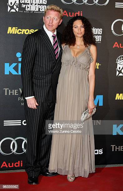 Boris Becker and Sharlely Becker attend ''Champions For Children'' First Annual Gala held at Castello Sforzesco on April 8, 2010 in Milan, Italy.