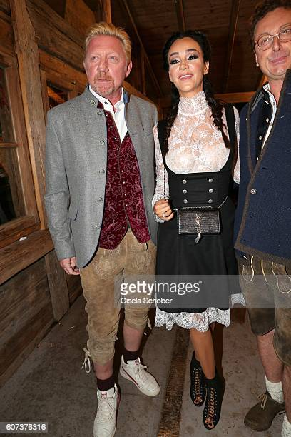 Boris Becker and Verona Pooth during the opening of the oktoberfest 2016 at the 'Kaeferschaenke' beer tent at Theresienwiese on September 17 2016 in...