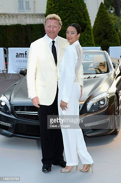 Boris Becker and wife Lilly arrive at the 2012 amfAR's Cinema Against AIDS during the 65th Annual Cannes Film Festival at Hotel Du Cap on May 24,...