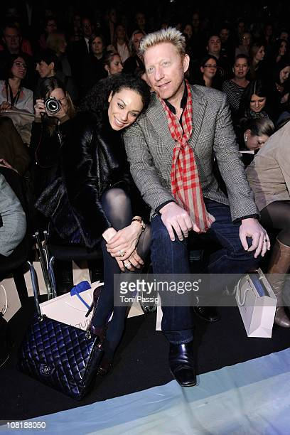 Boris Becker and wife Lilly attend the Laurel Show during the Mercedes Benz Fashion Week Autumn/Winter 2011 at Bebelplatz on January 20 2011 in...
