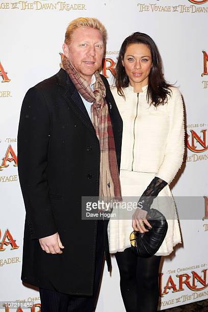 Boris Becker and wife Lilly attend the Royal World Premiere of The Chronicles of Narnia: The Voyage of the Dawn Treader held at The Odeon Leicester...