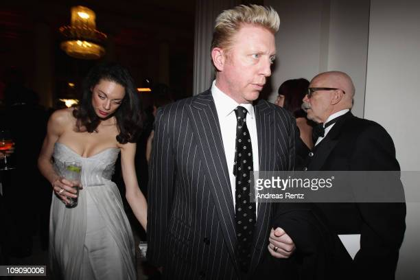 Boris Becker and wife Lilly Becker attend the Cinema for Peace Gala at the Konzerthaus Am Gendarmenmarkt during day five of the 61st Berlin...