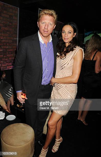 Boris Becker and wife Sharlely Becker attend Boris Becker's birthday party at Mortons on June 29, 2010 in London, England.