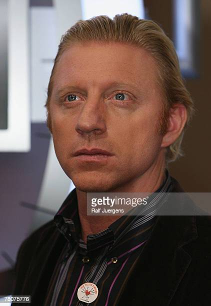 Boris Becker attends a photocall after RTL Telethon closure at the Coloneum at November 23 2007 in Cologne Germany