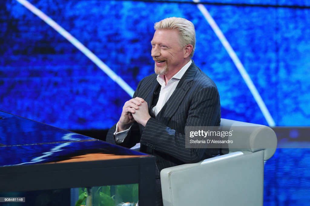 Boris Becker At Che Tempo Che fa Tv Show