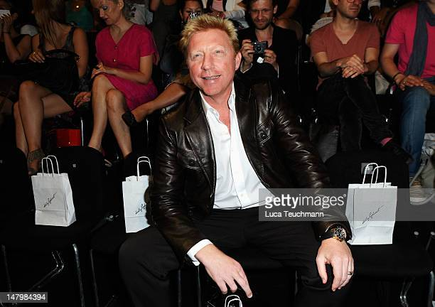 Boris Becker attends the Holy Ghost show at MercedesBenz Fashion Week Spring/Summer 2013 on July 7 2012 in Berlin Germany