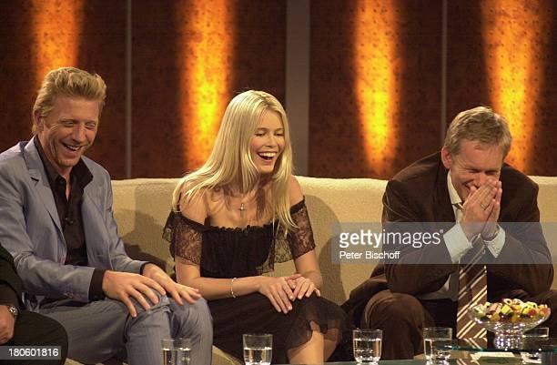 Boris Becker Claudia Schiffer Johannes B Kerner ZDF 'Wetten Dass' Braunschweig