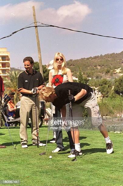 Boris Becker Claudia Schiffer Namefolgt ProminentenGolf Campde Mar/Mallorca/Spanien Golfplatz 'Golfde Andratx' golfen Golf spielen