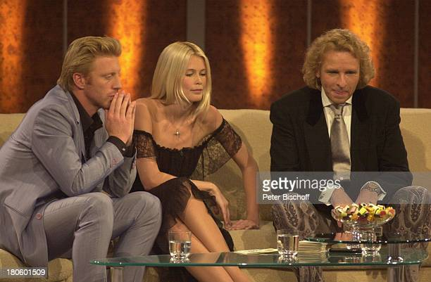 Boris Becker Claudia Schiffer Thomas Gottschalk ZDF 'Wetten Dass' Braunschweig
