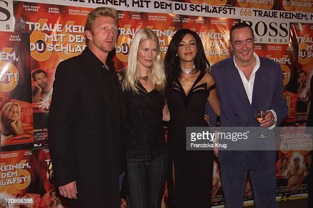 Boris Becker Claudia Schiffer Verona Feldbusch Und Produzent Bernd Eichinger Bei Der Premiere '666Traue Keinem Mit Dem Du Schläfst' In München Am...