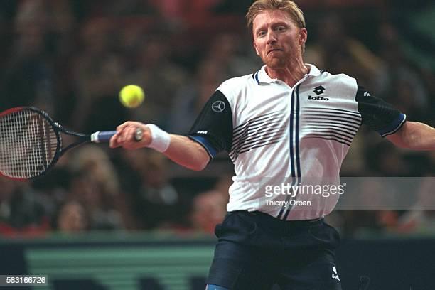 Boris Becker during his match with Nicolas Escud{.