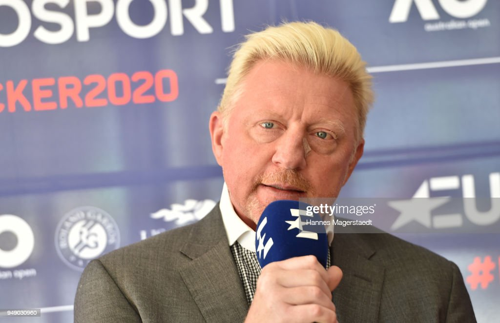 Eurosport Press Conference With Boris Becker In Munich : News Photo