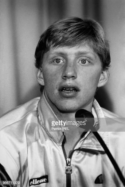 Boris Becker ira en finale de Coupe Davis octobre 1985 à Francfort RFA