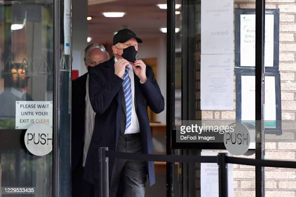 Boris Becker is seen arriving at Southwark Crown Court on October 22, 2020 in London, England. The former tennis star is due in court to face...