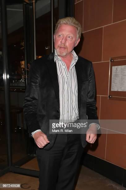 Boris Becker leaving C London restaurant on July 12 2018 in London England