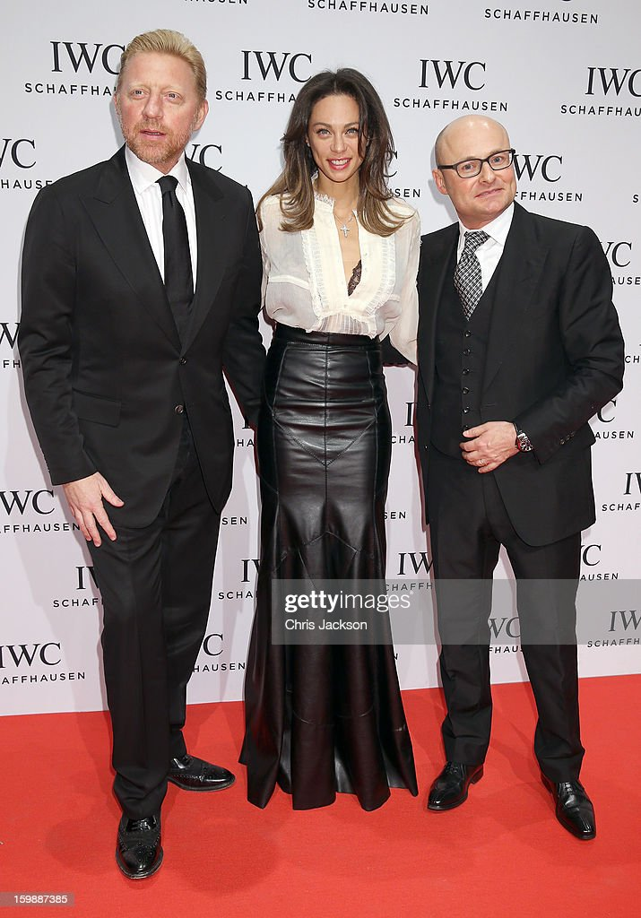 Boris Becker, Lilly Becker and Jean Reno attend the IWC Schaffhausen Race Night event during the Salon International de la Haute Horlogerie (SIHH) 2013 at Palexpo on January 22, 2013 in Geneva, Switzerland.
