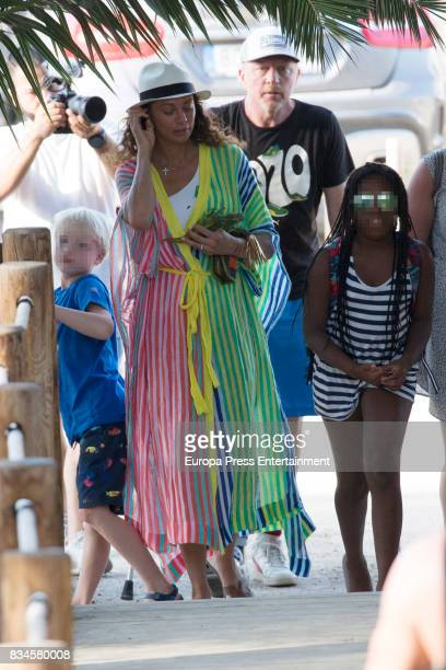 Boris Becker Lilly Becker and their son Amadeus Becker are seen on August 17 2017 in Ibiza Spain