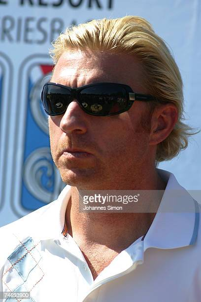 Boris Becker looks on during the opening of Hartl Golf resort on June 17 in Penning Germany