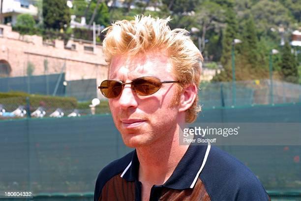 Boris Becker neben den Dreharbeiten zum ZDFSpecial zur Verleihung des 3 Laureus World Sports Awards Monaco/Monte Carlo Tennisplatz...