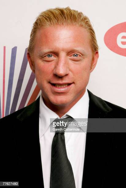 Boris Becker poses in the Awards Room during the MTV Europe Music Awards 2007 at the Olympiahalle on November 1 2007 in Munich Germany