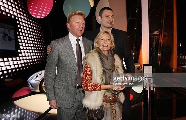 Boris Becker Sabine Christiansen and Vitali Klitschko attend the Laureus Sport For Good Dinner at MercedesBenz Gallery on November 16 2010 in Berlin...