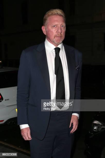 Boris Becker seen attending International Day of the Girl Gala at Albert's on October 11 2017 in London England