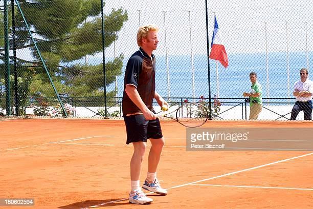 Boris Becker TennisDoppel Becker/Kerner neben den Dreharbeiten zum ZDFSpecial zur Verleihung des 3 Laureus World Sports Awards Monaco/Monte Carlo...