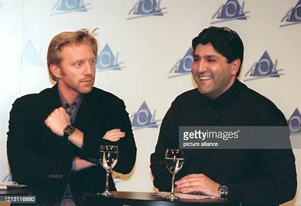 Boris Becker und AOL EuropeChef Andreas Schmidt stellt am 1522000 in Hamburg die neue Werbekampagne von AOL vor Nach dem großen Erfolg der «Ich bin...