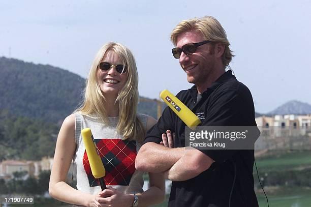 Boris Becker und Claudia Schiffer Beim Promi Golfturnier Auf Mallorca
