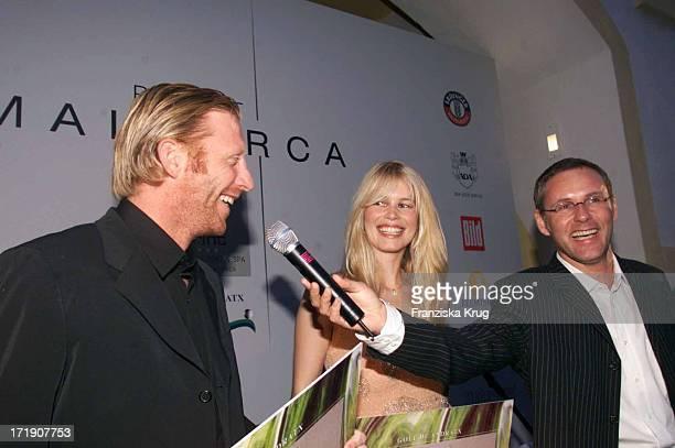 Boris Becker und Claudia Schiffer und Reinhold Beckmann Bei Dorint Gala Auf Mallorca