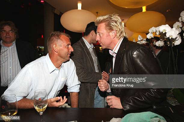 """Boris Becker Und Thomas Muster Bei Der """"Atp Player'S Night"""" Im Copper House In Hamburg Am 140508 ."""