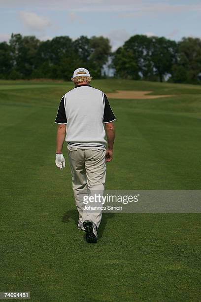 Boris Becker walks during the opening of Hartl Golf Resort on June 18 in Penning Germany