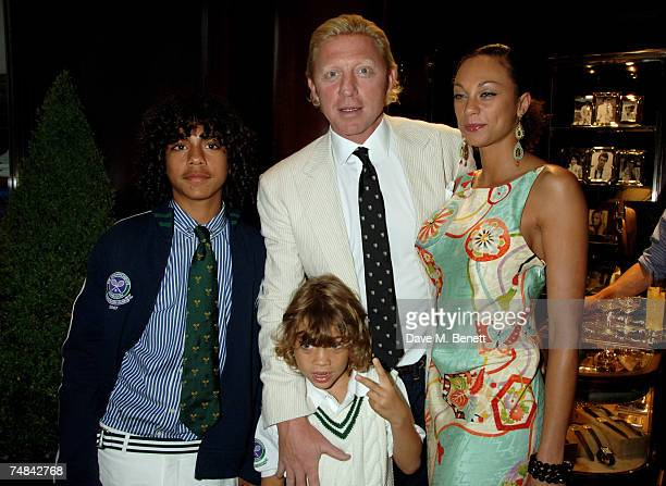 Boris Becker with partner Lily and his children attend the Ralph Lauren Wimbledon party hosted by Boris Becker and Lady Gabriella Windsor at Ralph...