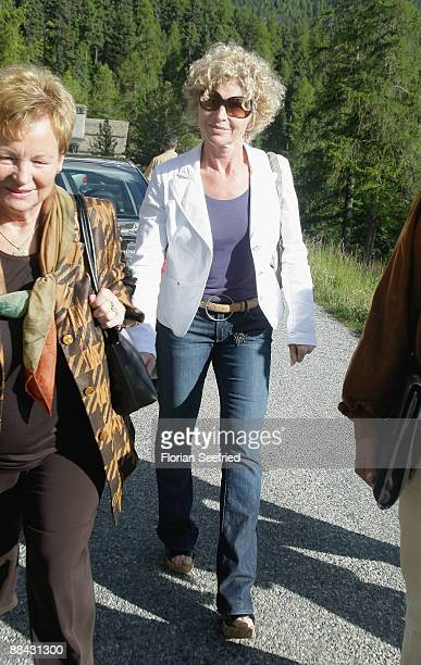 Boris Becker's sister Sabine Becker-Schorp arrives at the Regina Pacis chapel a day before the wedding of Boris Becker to Sharlely Kerssenberg on...