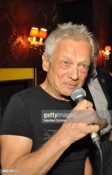 Boris Bukowski presents his new album 'Gibt's ein Leben vor dem Tod' at Cafe Jenseits on October 19 2017 in Vienna Austria